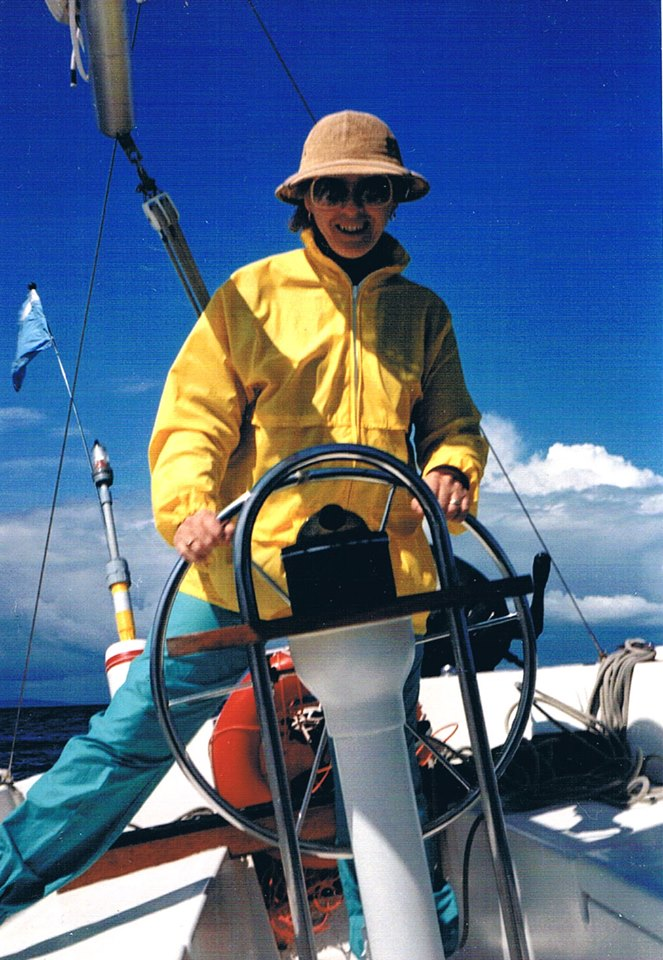 June sailing the Vita in the early 80s